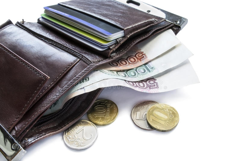 Download Wallet with cash stock image. Image of exchange, economics - 31938697