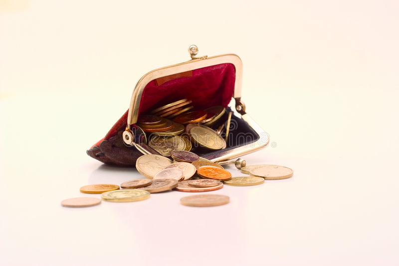 Download Wallet With Coins Royalty Free Stock Photo - Image: 6860295