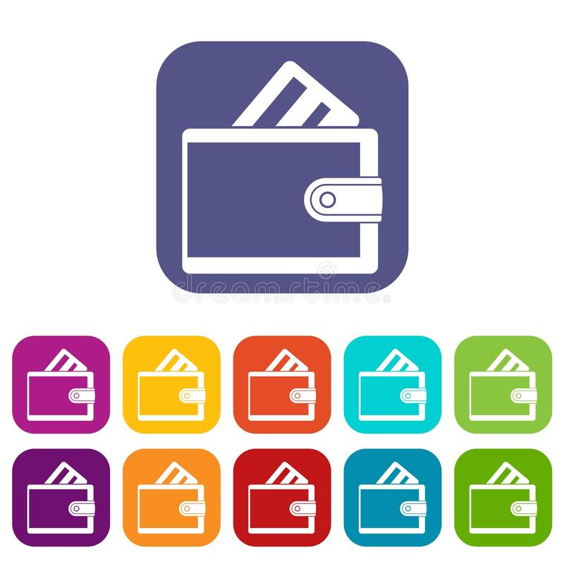 wallet with credit card icons set stock vector illustration of rh dreamstime com  vector credit card icons download