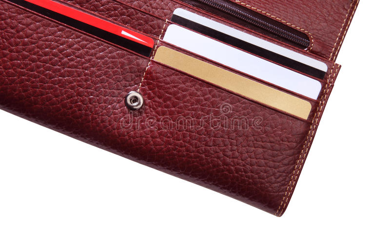 Download Wallet and credit cards stock photo. Image of brown, texture - 12155982