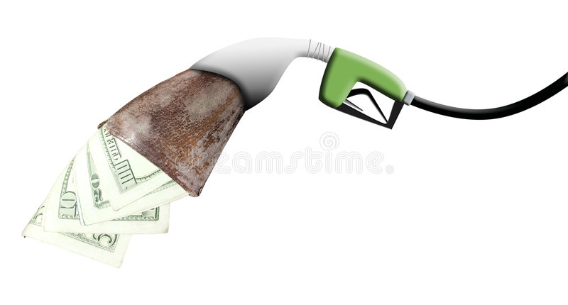 Wallet Eating Pump stock images