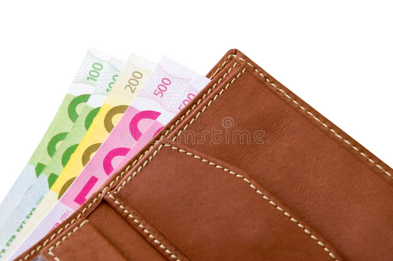 Download Wallet with euro banknotes stock image. Image of currency - 14708733