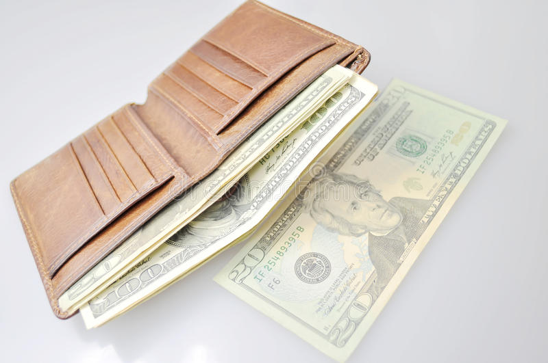 Wallet filled with usd