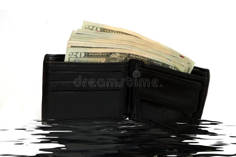 Wallet Full Of Bank Notes Stock Photos