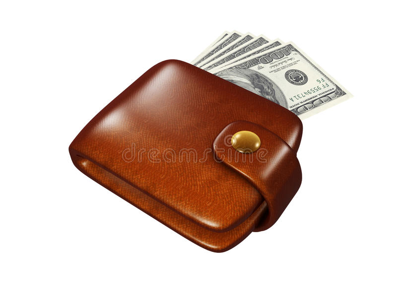 Download Wallet full of dollars stock illustration. Image of commerce - 32041690