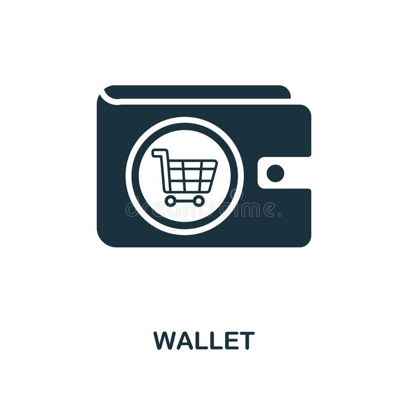 Wallet icon. Monochrome style design from e-commerce icon collection. UI. Pixel perfect simple pictogram wallet icon. Web design,. Wallet icon. Monochrome style vector illustration
