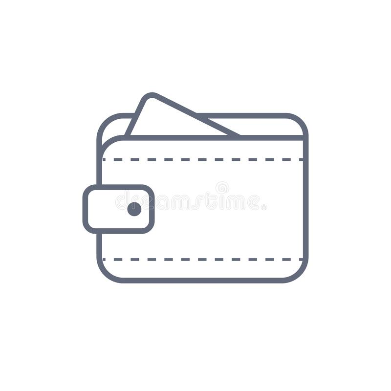 Wallet Icon in trendy flat style isolated on grey background. Wallet symbol for your web site design, logo, app, UI stock illustration