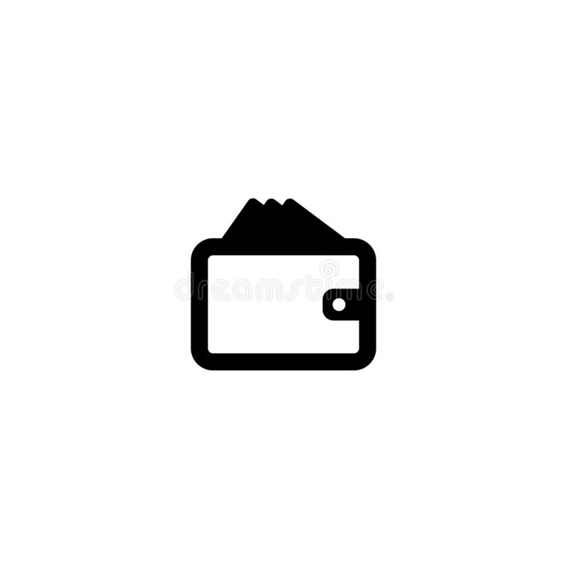 Wallet Icon in trendy flat style isolated on white background. vector illustration