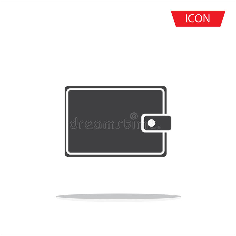 Wallet Icon in trendy flat style isolated on white background vector illustration