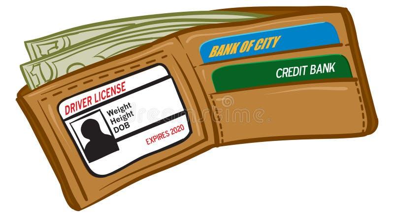 Wallet. An Illustration of a wallet full of money vector illustration