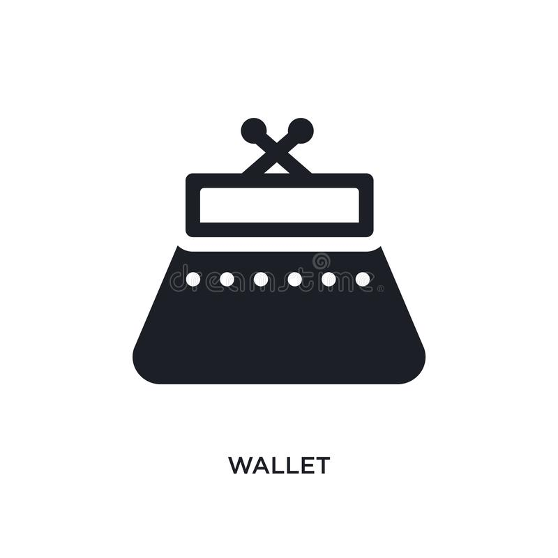 wallet isolated icon. simple element illustration from woman clothing concept icons. wallet editable logo sign symbol design on royalty free illustration