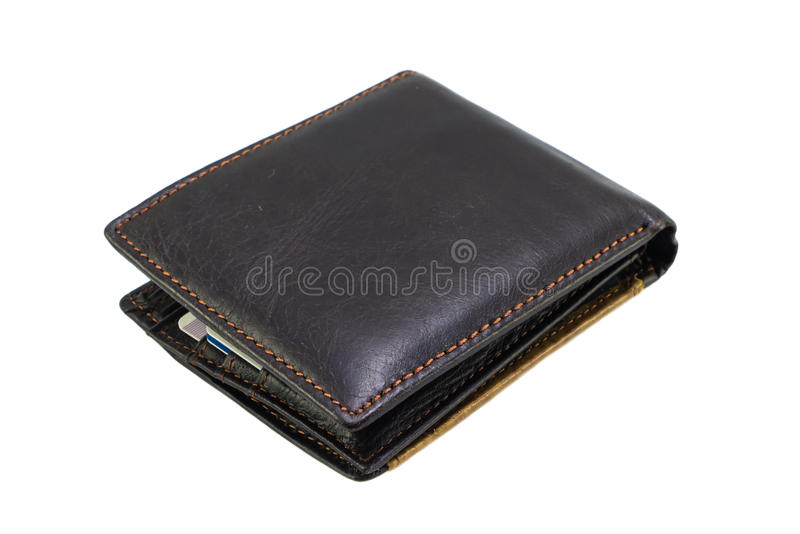 Wallet isolated. On white background royalty free stock image