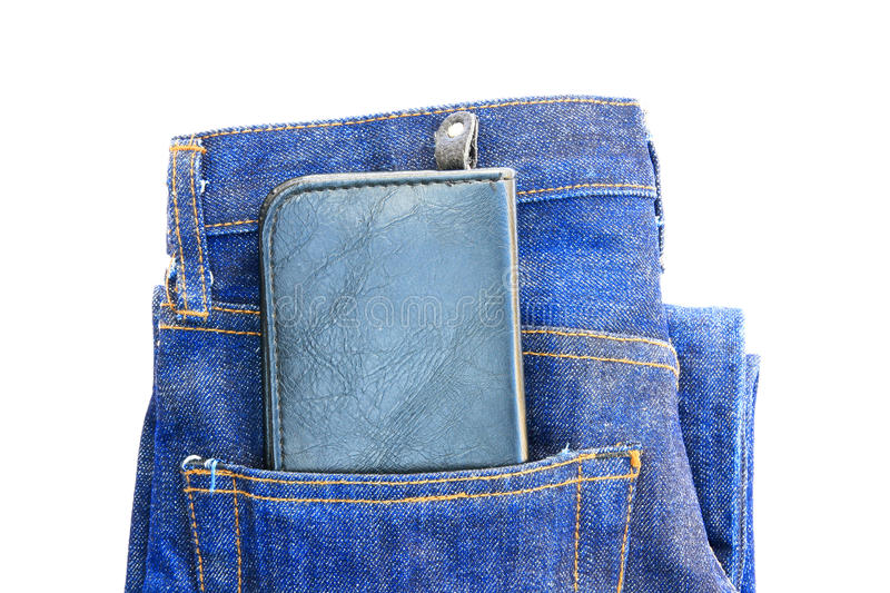 Download Wallet in a jeans pocket stock photo. Image of cotton - 26336768