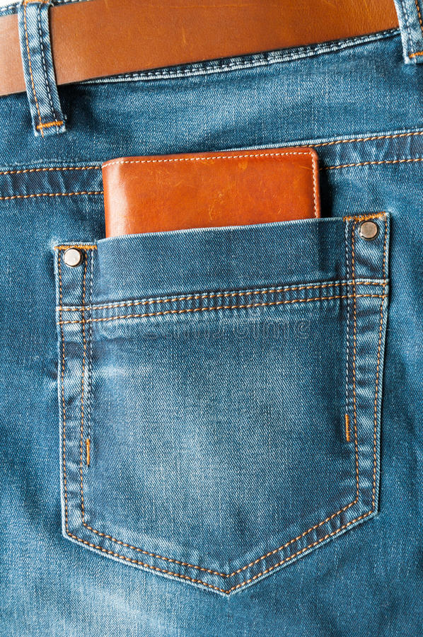 Download Wallet in jeans pocket stock image. Image of closeup - 29065285