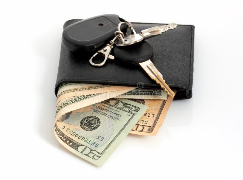 Wallet and keys stock photos