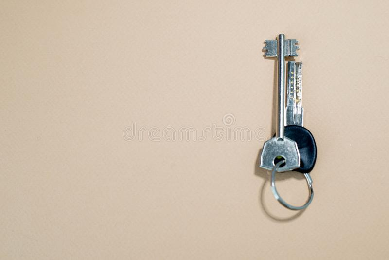 Keys from home stock photos