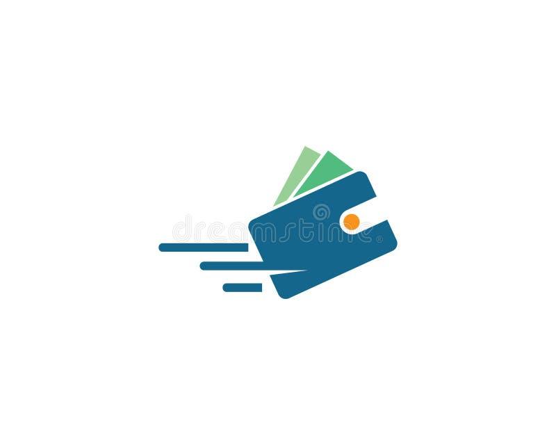 Wallet logo vector. Template royalty free illustration