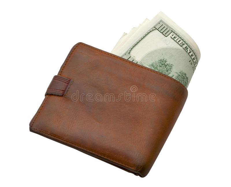 Wallet with money royalty free stock images