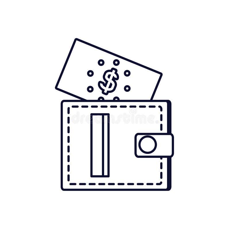Wallet money with bill dollar. Vector illustration design royalty free illustration