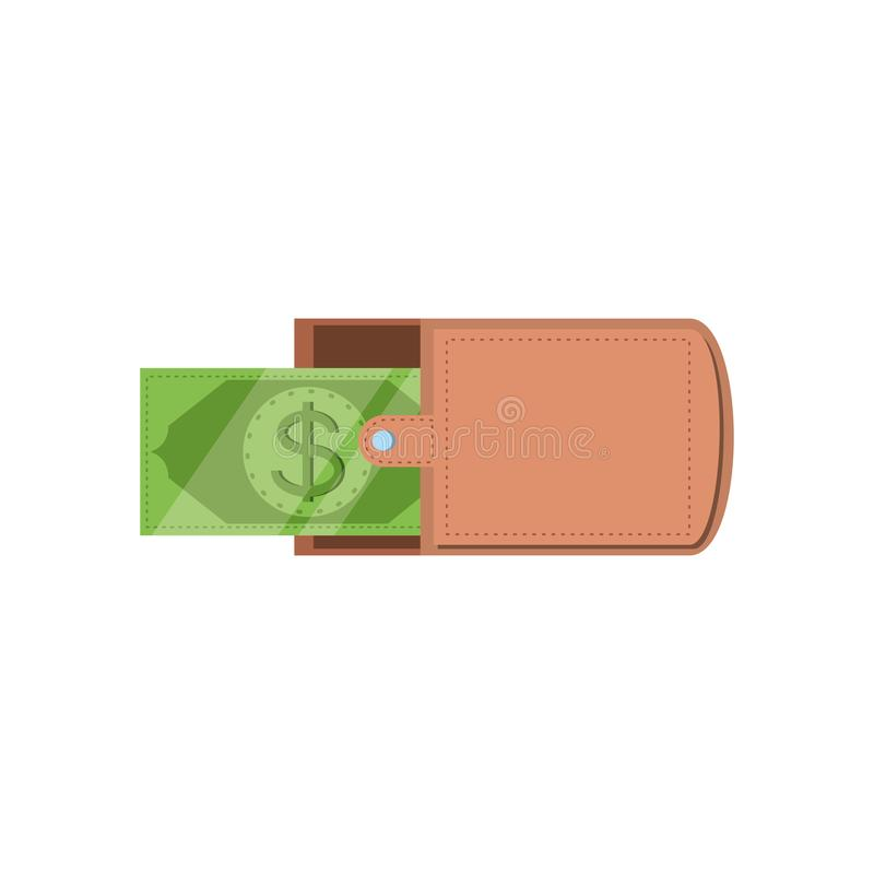 Wallet money with bill dollar. Vector illustration design stock illustration