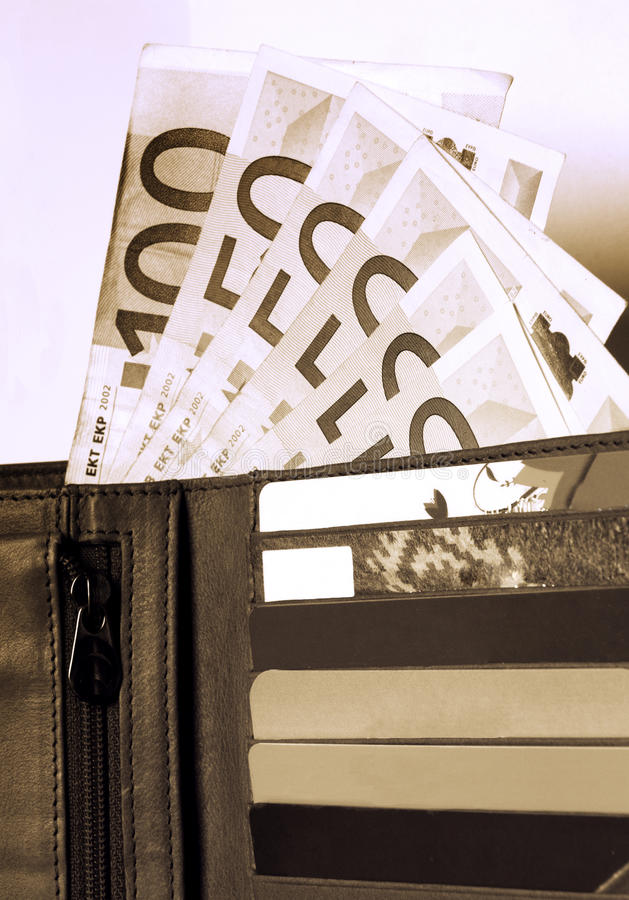 Download Wallet, Money And Credit Cards Stock Image - Image: 13347945