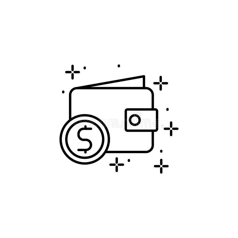 Wallet, money icon. Element of modern business icon. On white background stock illustration