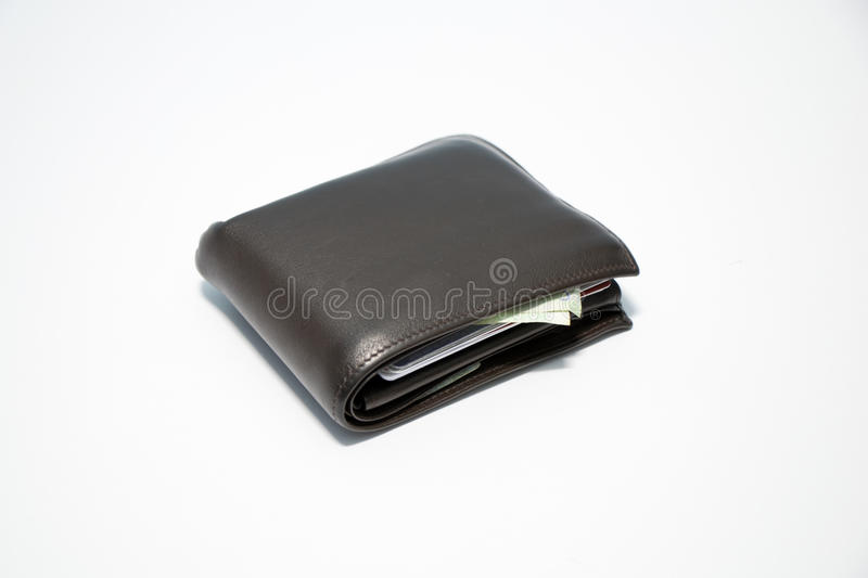 Wallet with money inside stock image