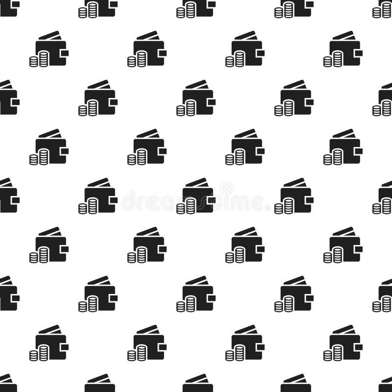 Wallet money pattern seamless stock illustration