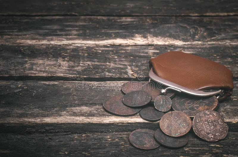 Wallet and money. stock image