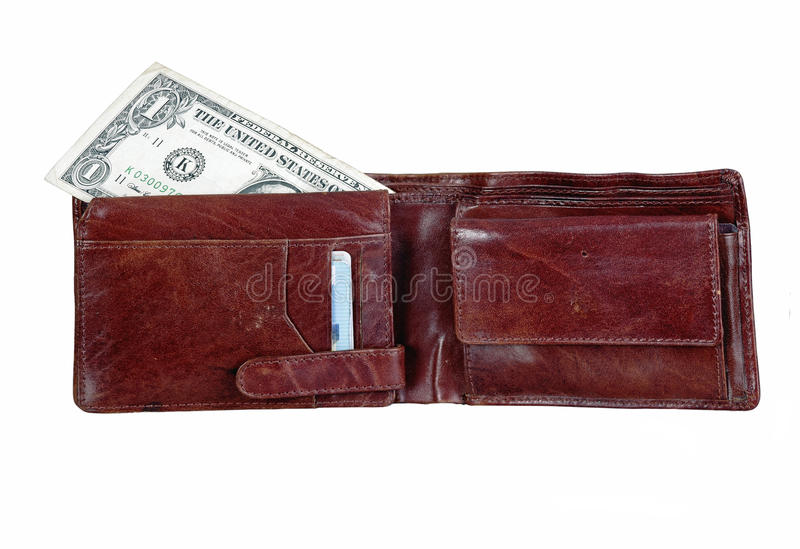 Download Wallet With One Dollar Bill Stock Image - Image: 24241701