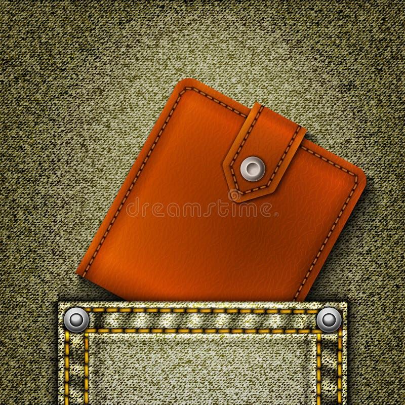 Download Wallet in pocket. stock vector. Illustration of indigo - 22682305