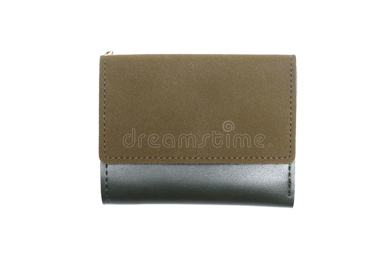 Wallet. Purse isolated. Green female wallet isolated on a white background royalty free stock image