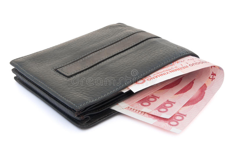 Wallet And RMB 100 Stock Images