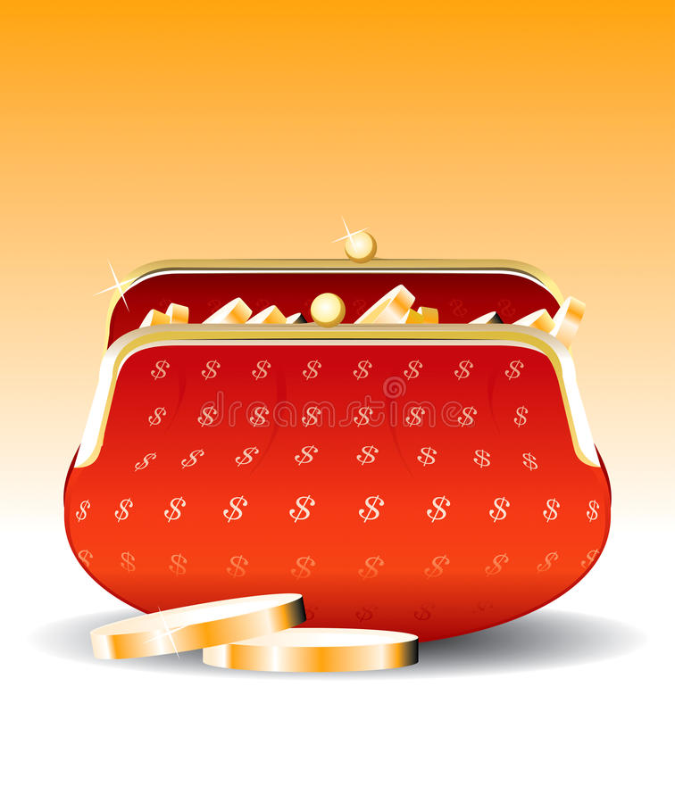 Download Wallet Set 3 stock vector. Image of currency, pocket - 11486806