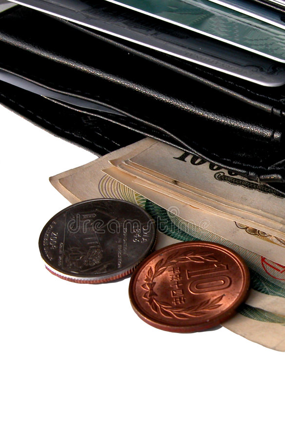 Download Wallet and some money stock image. Image of background, cost - 44099