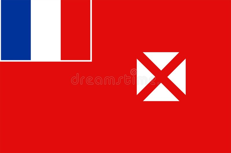 Wallis And Futuna Flag royalty free stock photos