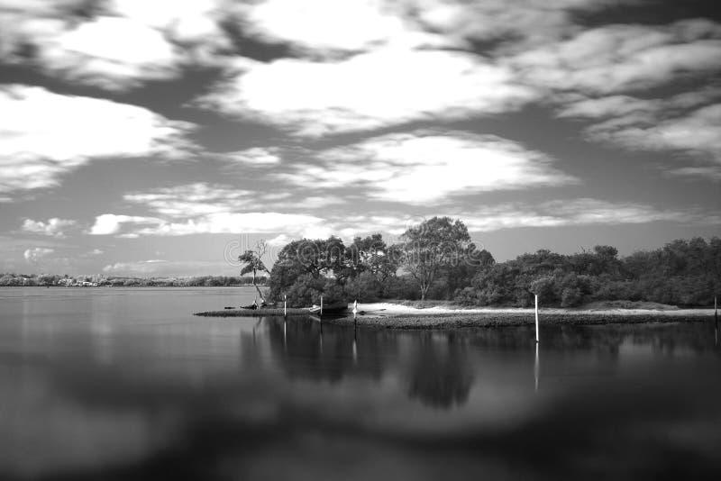 Wallis Lake Forster Australia-Infrarotlandschaft stockfoto