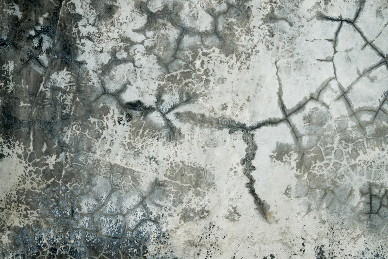 Walll concreto rotto immagine stock