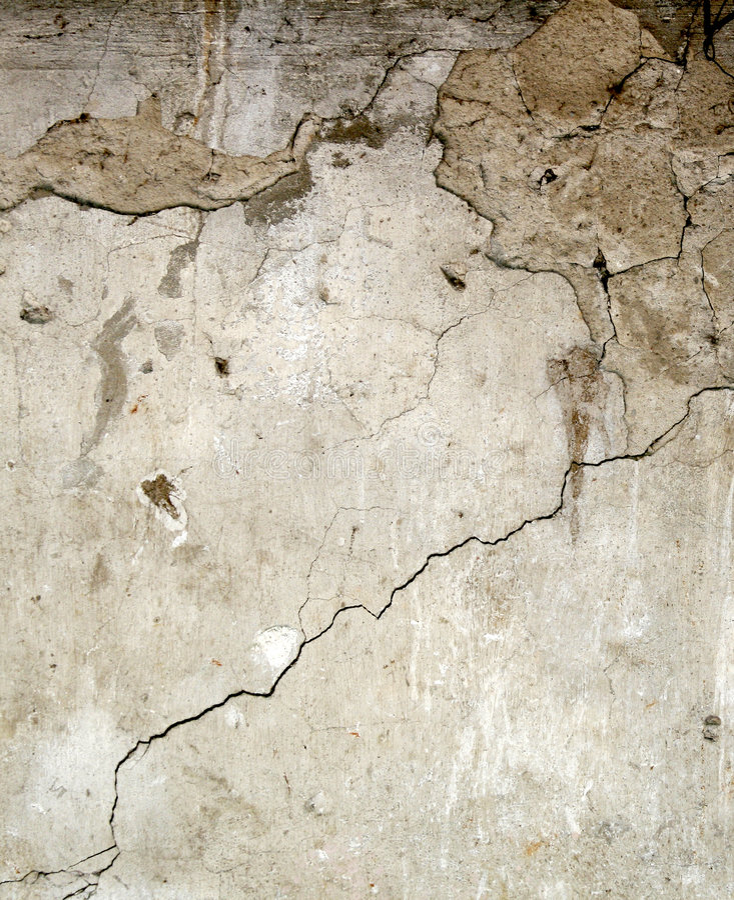 Walll del concreto de Brocken fotografía de archivo libre de regalías