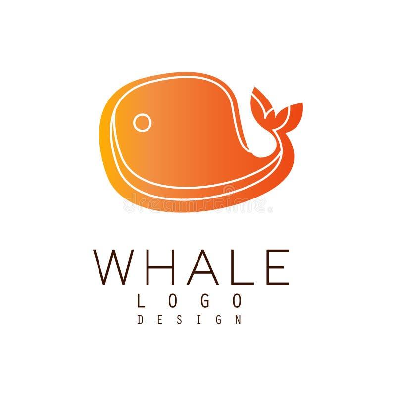 Wallogodesign, Emblem kann für Reisebüro, Reederei, Meeresfrüchtemarkt, Poolvektor Illustration verwendet werden auf a vektor abbildung