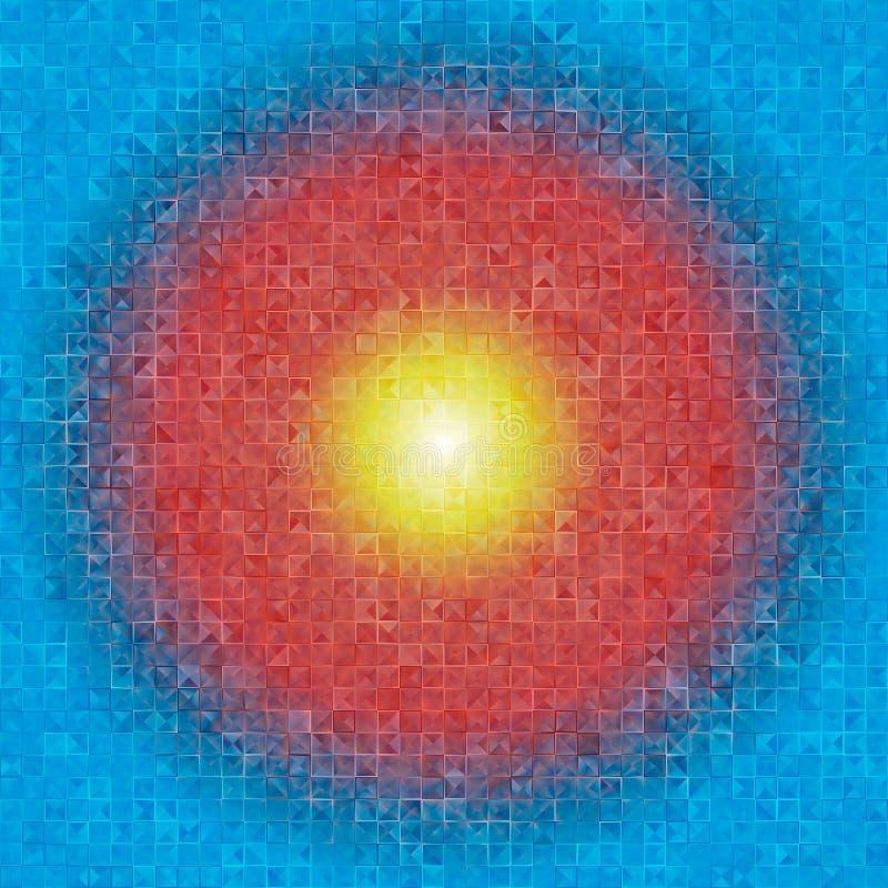 Wallpape cúbico do triângulo azul fotografia de stock royalty free