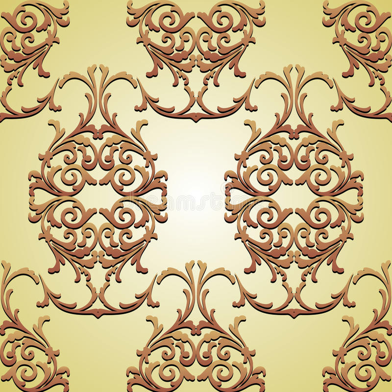 Wallpaper_04. Vector background for wallpaper, curtains and other designs royalty free illustration