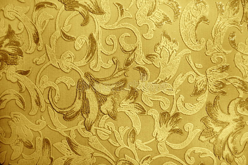 Wallpaper. Retro luxury floral engraving wallpaper stock images