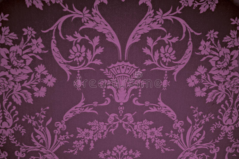 Wallpaper. With period flower design stock photos