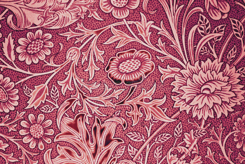 Wallpaper. With period flower design royalty free stock photo