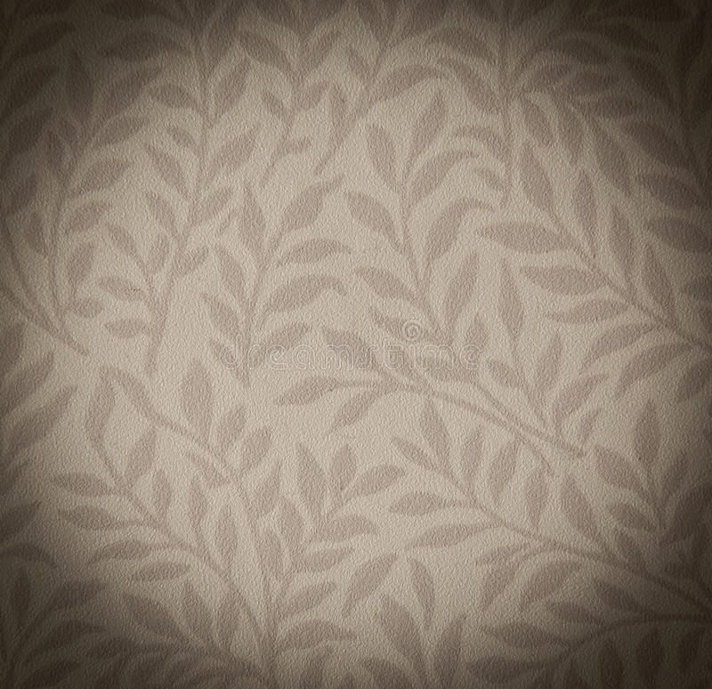 Wallpaper. Grunge wallpaper background with floral leaves royalty free stock image