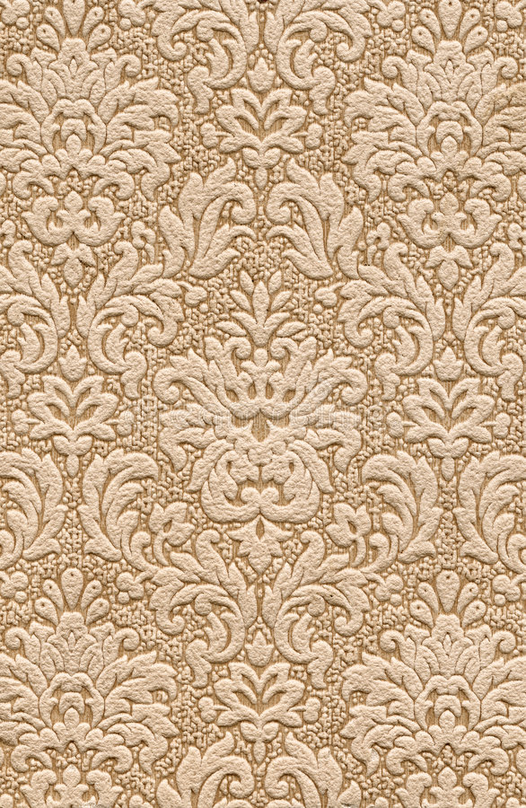 Wallpaper. Old textile wallpaper with floral design