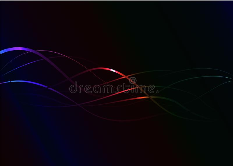 Wallpaper abstract futuristic in dark background royalty free stock photos