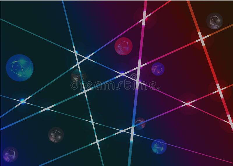 Wallpaper abstract laser light in dark background stock photo