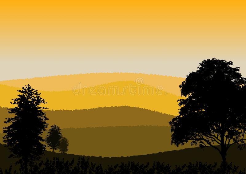 Wallpaper or background with natural landscape royalty free illustration